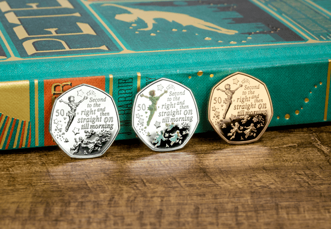 Official Peter Pan 50p Coins issued in partnership with Great Ormond Street Hospital Children's Charity